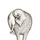 Engraved Elephant (Iphone Case) by Jo Holden