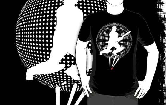 cricket t-shirt on dark by parko