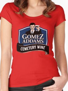 Gomez Addams Cemetery Wine Women's Fitted Scoop T-Shirt