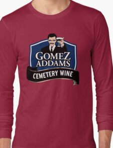 Gomez Addams Cemetery Wine Long Sleeve T-Shirt
