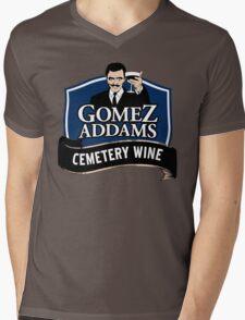 Gomez Addams Cemetery Wine Mens V-Neck T-Shirt