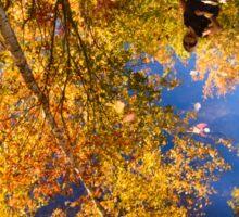 In autumn reflection. Sticker