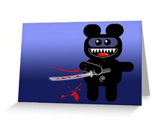 NINJABEAR Greeting Card