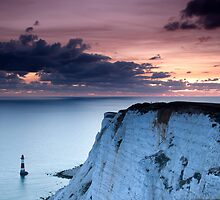 Sunset over Beachy Head by Ian Elmes