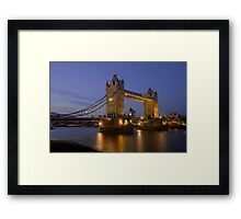 Tower Bridge at Sunset, London, UK Framed Print