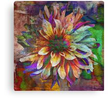 Colorful Dahlia - Digital Art Print Canvas Print
