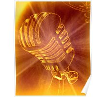 Shining Microphone Poster