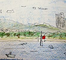 beach scene (looking west from the Spit)  by donnamalone