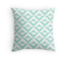 Mint Square Diamond Chevron Pattern Throw Pillow