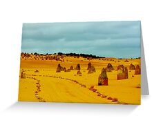 The Pinnacles....follow the yellow dirt road. Greeting Card