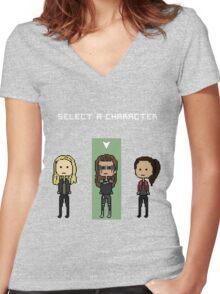 select lexa (x2) Women's Fitted V-Neck T-Shirt