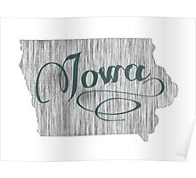 Iowa State Typography Poster