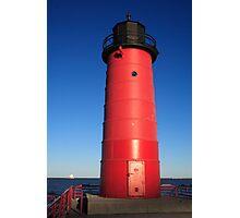 Milwaukee Pierhead and Breakwater Light Photographic Print