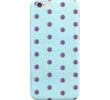 Blue and Purple Polka dots iPhone Case/Skin