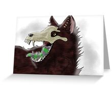 werewolf in the moon Greeting Card