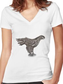 Eagle  TEE SHIRT/BABY GROW/STICKER Women's Fitted V-Neck T-Shirt