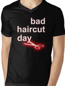Bad Haircut Day (white) Mens V-Neck T-Shirt