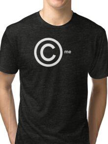 Copyright Me (white) Tri-blend T-Shirt