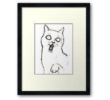 Cat Sketch Framed Print