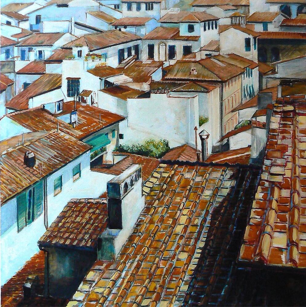 Firenze Rooftops. by Richard Sunderland