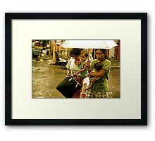 Ladies and Babies in Chinatown Rain Framed Print