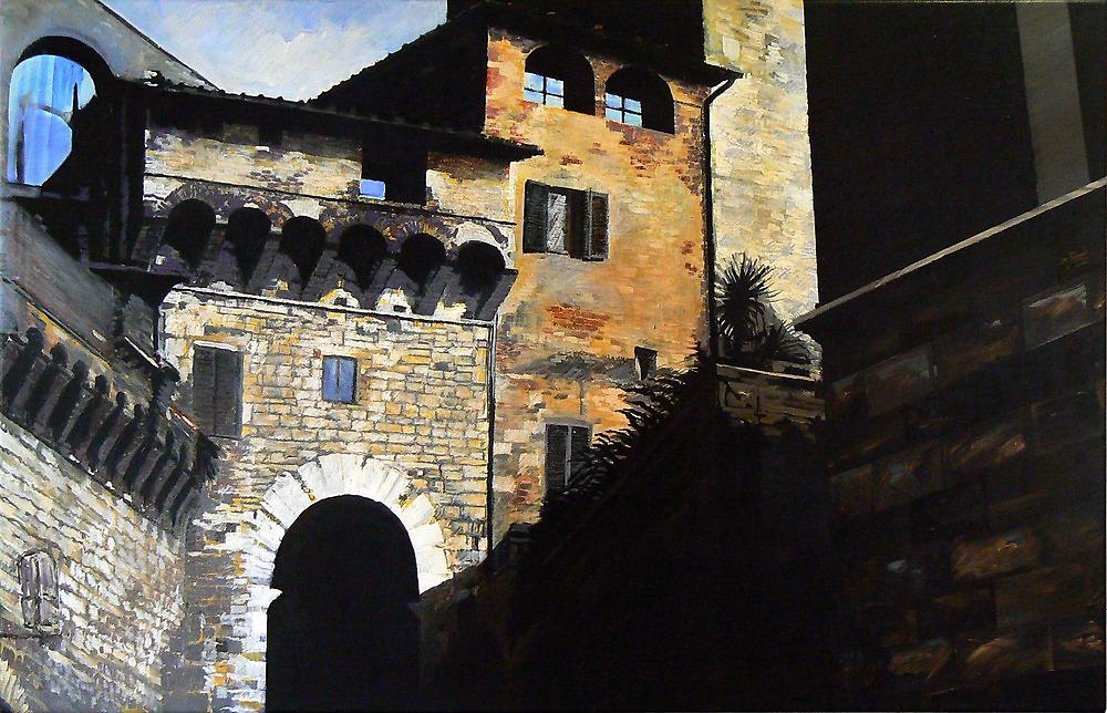 San Gimignano -Oil by Richard Sunderland