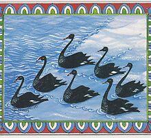 7 Swans a-swimming by Tracy Watt