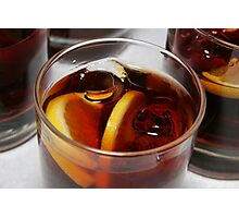 Glass of whiskey cocktail  Photographic Print