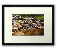 Mothar Mountain Rockpools Framed Print