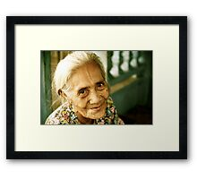 Sitting With Her Husband Framed Print