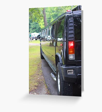 Limo Side Greeting Card