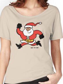 Running Santa Claus Women's Relaxed Fit T-Shirt