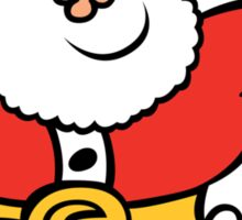 Running Santa Claus Sticker