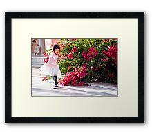 Bougainville Ballerina Framed Print