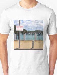 No Parking Sign beside a Harbour T-Shirt