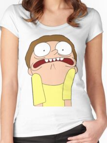 Morty Scared halloween  Women's Fitted Scoop T-Shirt