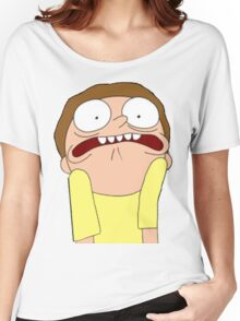 Morty Scared halloween  Women's Relaxed Fit T-Shirt