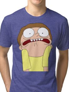Morty Scared halloween  Tri-blend T-Shirt