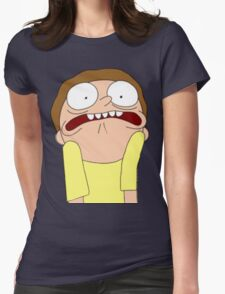 Morty Scared halloween  Womens Fitted T-Shirt