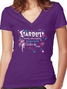 Stardust Casino Women's Fitted V-Neck T-Shirt