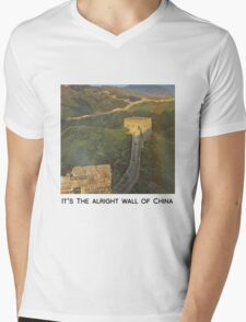 The alright wall of China Mens V-Neck T-Shirt