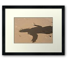 Shadow in dune Framed Print
