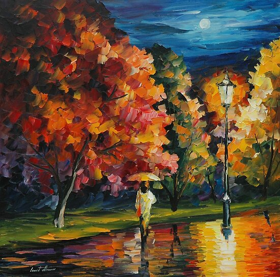 MOONY NIGHT - LEONID AFREMOV by Leonid  Afremov