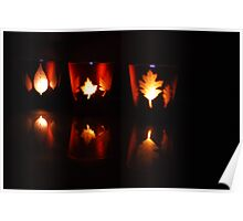Autumnal candles Poster