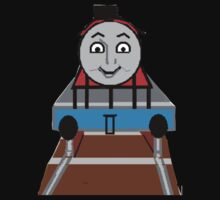 Toddlers Cartoon Lyle the Toy Train Engine Tshirt Kids Clothes