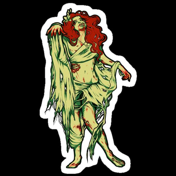 Zombie Girl - STICKER by MeganLara