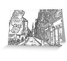An Oxford Sketch  Greeting Card