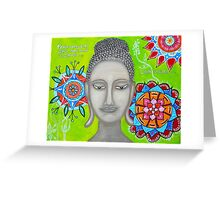BUDDHA WITH MANDALAs Greeting Card