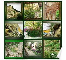 Collage: Natural Stone Poster