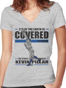 Superman - Kevin Pillar Women's Fitted V-Neck T-Shirt